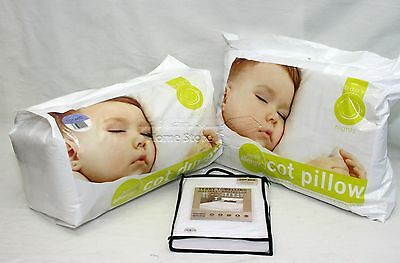 7.5T Anti Allergy Baby Nursery Toddler Cot Bed Duvet + Pillow + Waterproof Cover