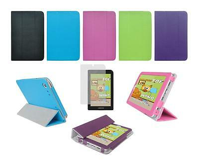 """Folio Skin Cover Case and Screen Protector for Monster M7 7"""" Tablet"""