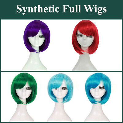 Cosplay Bob 30cm Costume Short Full Hair Straight Lolita Fashion Wig Women Girls