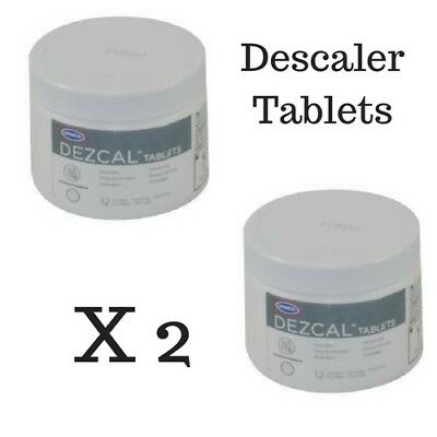 Coffee Machine Cleaner Cleaning Tablets 2X Dezcal Descaler 24 Tab. Breville Jura