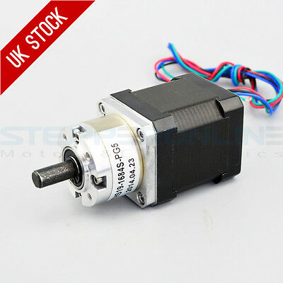 5:1 Planetary Gearbox High Torque Nema 17 Stepper Motor 1.68A DIY CNC 3D Printer