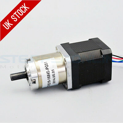 51:1 Planetary Gearbox High Torque Nema 17 Stepper 1.68A CNC Robot 3D Printer