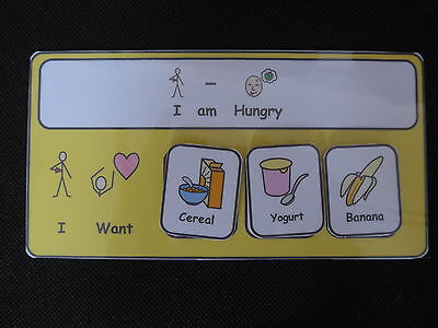 I am Hungry I Want-Communication Visual Aid for Autism/ADHD/Visual Learners/SEN