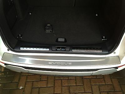 Range Rover Evoque Rear Bumper Protector Plate Stainless Steel.