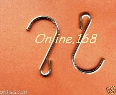 Zinc plated steel S hanging hooks for retail shops secure merchandising strips!