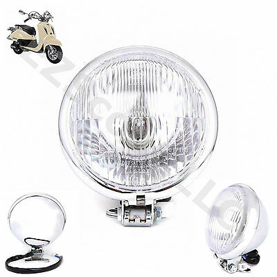 Retro Headlight Chinese Gy6 Scooter Baron Lance Vintage Bms Cali Classic Znen