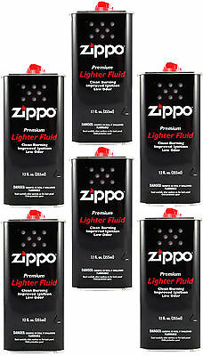 6 Cans Zippo Premium Lighter Fluid 12 fl oz. (355ml) For Zippo Lighters