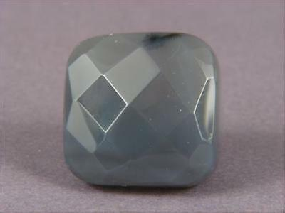 Ring Gray Agate 30mm Facet Square SZ 5.75 7526