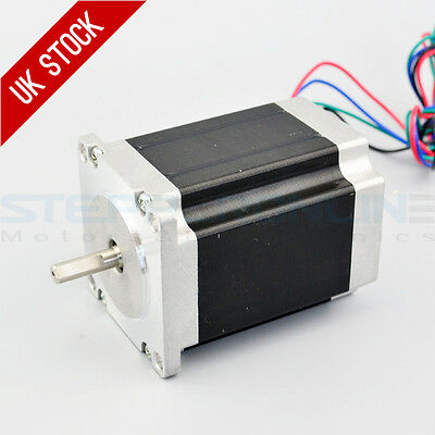 Nema 23 Stepper Motor 1.9Nm 2.8A 4-wires 6.35mm Shaft DIY CNC Mill Lathe Router