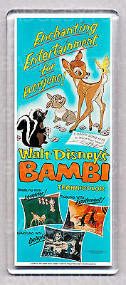 BAMBI movie poster (style A) LARGE 'WIDE' FRIDGE MAGNET - CLASSIC!