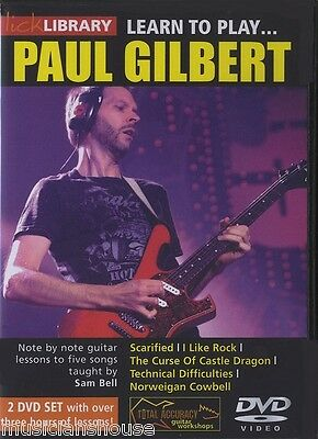 LICK LIBRARY LEARN TO PLAY PAUL GILBERT METAL SHRED ROCK Guitar DVD SAM BELL