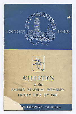 Orig.PRG   XIV.Olympic Games LONDON 1948 // ATHLETICS 30.07. / 3 Final`s !! RARE