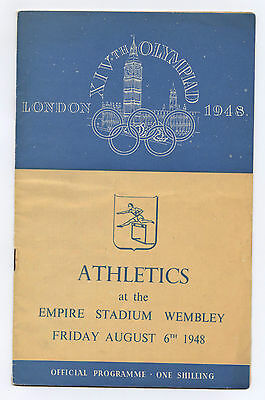 Orig.PRG    XIV.Olympic Games LONDON 1948  /  ATHLETICS   06.08.1948  !!    RARE