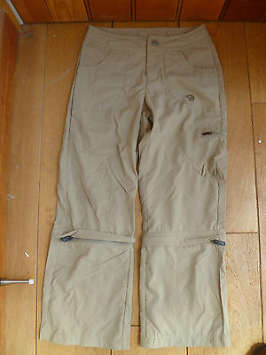 Mountain Hard Wear Girls Beige Zip Off Upf 30 Desira Trousers M Bnwt