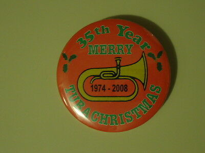 Merry TubaChristmas 2008 35th Year Button (1974-2008