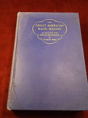 "Old Vtg Antique 1928 First Edition Book "" The Great American Band-Wagon"" Humor"