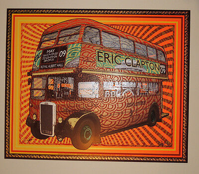 Eric Clapton - 2009  - Royal Albert Hall - Firehouse - Tour Poster - Sperry