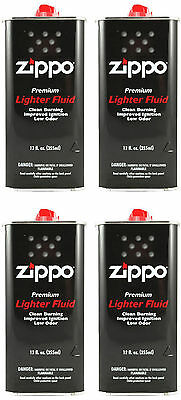 Zippo Premium Lighter Fluid 12 fl oz. (355ml) For All Zippo Lighters (Pack Of 4)