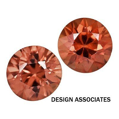 4 Mm Round Cut Red Zircon All Natural Aaa Each