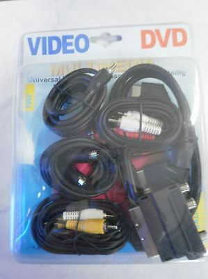 14x Universal Multimedia Anschlussset 7-teilig DVD Video Audio  Sonderposten