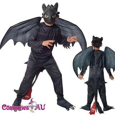 Licensed Boys Kids How to Train Your Dragon 2 Toothless Night Fury Costume Child