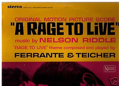 A Rage To Live - 1965 Nelson Riddle - Soundtrack -Record LP