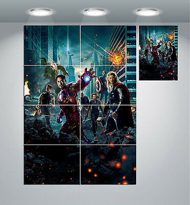 MEDIEVAL AVENGERS THOR IRON MAN GIANT WALL ART PICTURE PRINT PHOTO POSTER J119