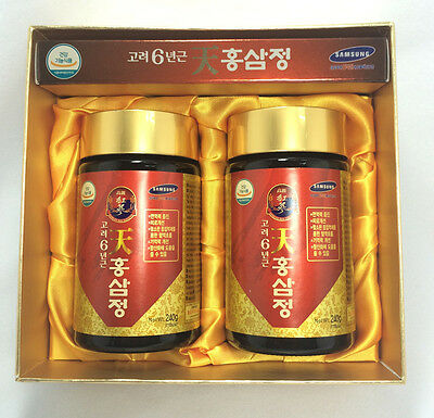 Korean Red Ginseng Extract Gold 240g (8.5oz) X 2EA Root Saponin Panax