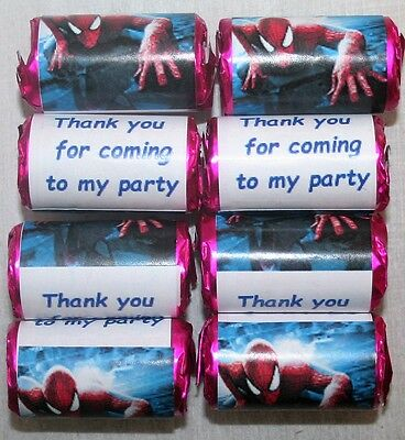 Personalised Spiderman Mini Love Hearts Sweets Party Bag Fillers