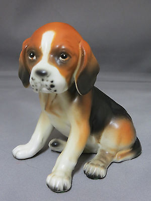 Lefton Beagle Puppy Dog Figurine Statue 691 Made in Japan Porcelain Collectible
