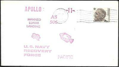 "US Space Cover 1969. ""Apollo 11"" Recovery. USS Hornet"