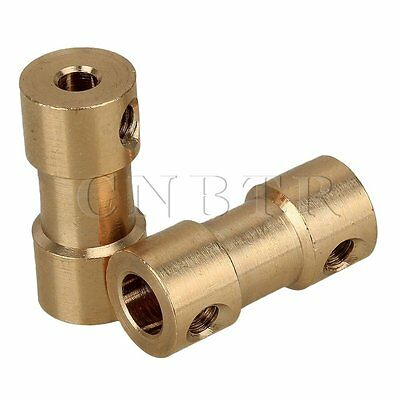 2pcs RC Airplane 3mm to 5mm Brass Joint Motor Shaft Coupling Coupler Connector