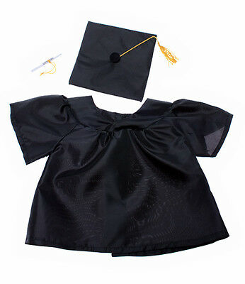 """Graduation Gown 16""""(40cm ) by Teddy Mountain will fit Build a Bear"""