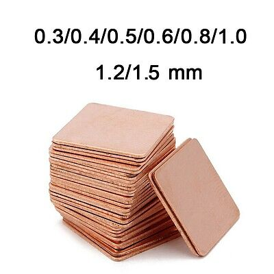 30Pcs 15mmx15mm Thermal Heatsink Copper Pad Shim For Laptop PC Game VGA IC Chip