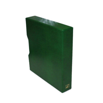 "Seven Seas 32mm ""D"" Ring Stamp  Binder & Slipcase For Stamps, Banknotes - GREEN"