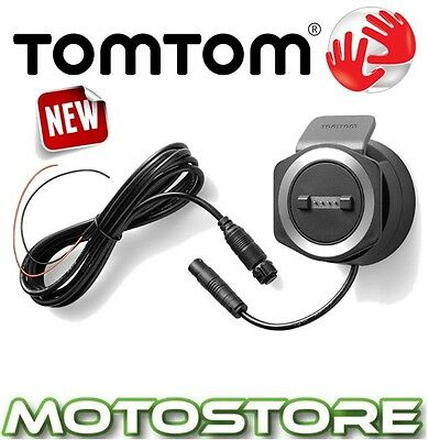 Tomtom Rider 40 400 410 Motorcycle Mount Sat Nav Gps Charge  Powered Battery