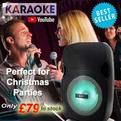 Ultimate Karaoke Machine with Bluetooth  - Ideal gift for Christmas LED Lights