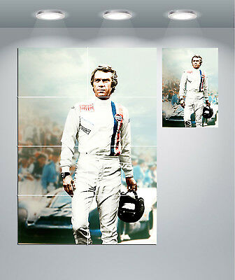 Steve McQueen Le Mans Vintage Movie Giant Wall Art Poster Print