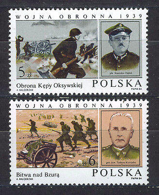 POLONIA/POLAND 1984 MNH SC.2639/2640 Invasion of Poland