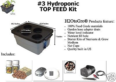 DWC TOP FEED Hydroponic Bubbler ~ # 3 by H2OtoGro
