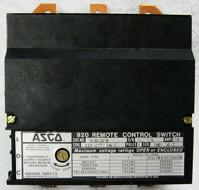 ASCO 920 NEW 33030 3 pole Lighting Contactor 30 amp Feeder Circuits Asco Pole Wiring Diagram on lighting contactor wiring diagram, start stop switch wiring diagram, transfer switch wiring diagram, float switch wiring diagram,