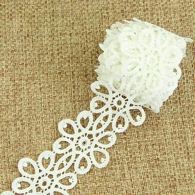 3 Yards Dentelle Guipure Blanche Applique Ornement Couture Broderie 6.0 CM