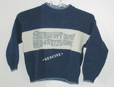 UNITED COLORS OF BENETTON Size S Boys Blue Pullover Sweater (Made in Italy)