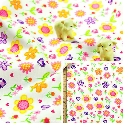 Spyro Gyro Fabri-quilt Floral 100/% Cotton quilting craft fabric Blue Yellow