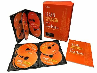 Learn Spanish with Paul Noble Collins 12 CDs, Booklet, DVD Collection Box Set