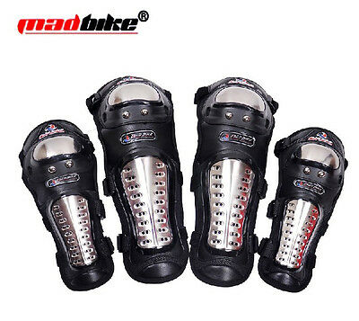 Motorcycle Stainless Steel Racing Rider Elbow & Knee Pads Armor Protective Guard
