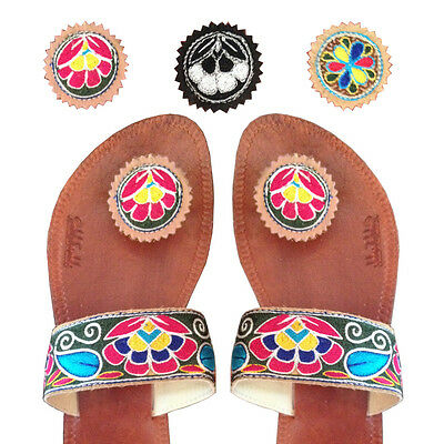 d57931329 Paduka Sandals New Leather Womens Toe Post Shoes Flats Flip Flop Gladiator  Thong