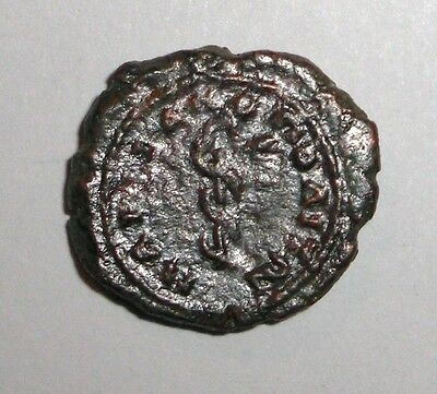 Ancient Roman Provincial, 100 - 400 AD. Bronze coin. Snake, Serpent