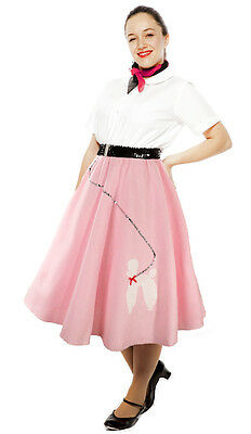 4 Piece Pink Poodle Skirts - Wholesale Prepack Lot - Costume or for Resale