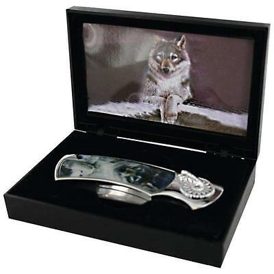 LONE WOLF Decorative Lockback KNIFE & CASE Box Pocket Folding Blade Hunting